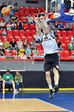 Kyrylo Fesenko grabbed the basket Royalty Free Stock Image
