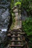 Kysel ravine in Slovak Paradise National park, Slovakia Royalty Free Stock Image