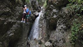 Kyselkloof in het Nationale park van Slovensky raj, Slowakije stock foto