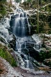 Kysovicky waterfall Royalty Free Stock Photography