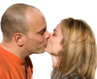 kyss royaltyfri foto