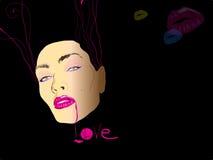 kyss royaltyfri illustrationer