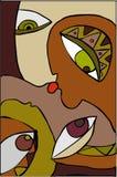 kyss 2 royaltyfri illustrationer