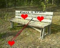 Kyss och kram _ Royaltyfri Foto
