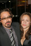 Kyss Robert Downey Jr. , Robert Downey Jr, Robert Downey, jr., Susan Levin Royaltyfri Fotografi