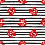 Kyss sömlös modellbakgrund för kanter Vektorillustration som isoleras på vit stock illustrationer