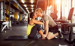 Kyss som priset för brunn gjord övning Arkivbild