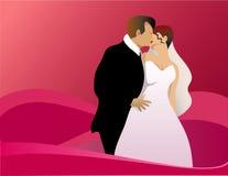 kyssa bröllop Arkivbild