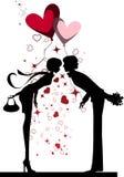 kyssa för par Arkivbild