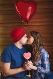 Kyssa för valentin Royaltyfri Foto