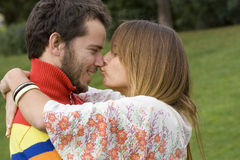 kyssa först mitt Royaltyfri Fotografi