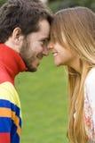 kyssa först mitt Royaltyfria Foton