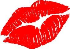 Kyssa mig som är röd Royaltyfri Illustrationer