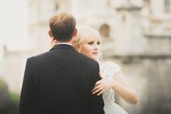 Kyssande brölloppar i stående för vårnaturnärbild royaltyfri fotografi