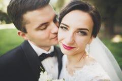 Kyssande brölloppar i stående för vårnaturnärbild arkivbild