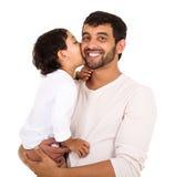 Kyssande farsa för indisk pojke Royaltyfria Bilder