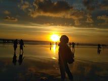 Kyssande solnedgång Royaltyfri Foto