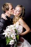 kyssbröllop Royaltyfria Bilder