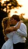 kyssbröllop Arkivbilder
