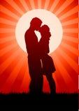 kyssen älskar mig var god Arkivbilder