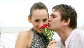 kyssförälskelse Royaltyfri Bild