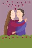 kysspar Royaltyfria Bilder