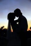 kysssolnedgång Royaltyfri Bild
