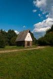 从Kysuce的村庄-斯洛伐克村庄的博物馆, JahodnÃcke hà ¡ je,马丁,斯洛伐克 免版税库存照片