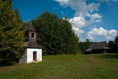 从Kysuce的钟楼-斯洛伐克村庄的博物馆, JahodnÃcke hà ¡ je,马丁,斯洛伐克 图库摄影