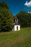 从Kysuce的钟楼-斯洛伐克村庄的博物馆, JahodnÃcke hà ¡ je,马丁,斯洛伐克 免版税库存图片
