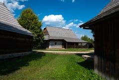 Kysuce -斯洛伐克村庄的博物馆, JahodnÃcke hà ¡ je,马丁,斯洛伐克 免版税库存图片