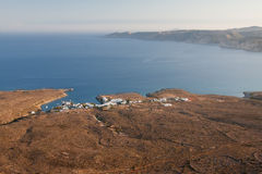 Kythera Island Coast Aerial View Stock Photo