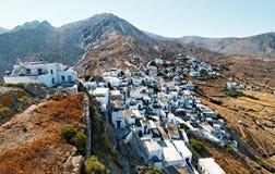 Kythnos海岛村庄 免版税图库摄影
