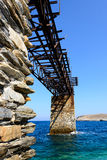 Kythnos Loutra iron quay Stock Photography