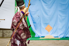 Kyudo Arrow in Flight Royalty Free Stock Photography