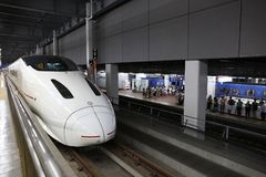 Kyushu Shinkansen train de remboursement in fine de 800 séries Photo stock