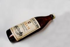 Kyznetsovsk Ukraina, Lipiec, - 09, 2016: Butelka stary Azerbejdżan w Zdjęcia Stock