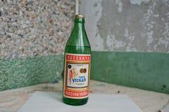 Kyznetsovsk Ukraina, Lipiec, - 09, 2016: Butelki stara Ussr ajerówka Zdjęcie Stock