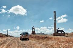 Kyzyl Art Pass zwischen Kirgisistan und Tadschikistan, eingelassenes Augus stockfoto