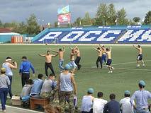 Kyzyl Tuwa Russland Wettbewerbe auf dem Wringen von Huresh Lizenzfreies Stockbild