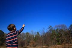 Là - dans le ciel ! Photos libres de droits