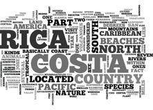 Là où est Costa Rica Located Word Cloud Image stock