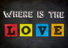 Là où est l'amour Images libres de droits