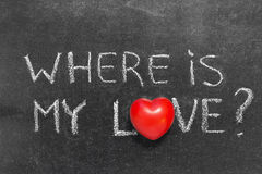 Là où est mon amour Images libres de droits