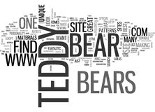 Là où I trouvera meilleur Teddy Bears Word Cloud Photo libre de droits