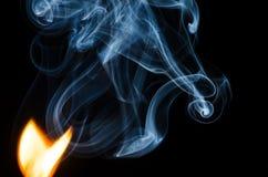 Là où il y a le feu il y a de fumée Photos libres de droits