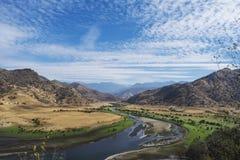 Là où la rivière rencontre le désert Photographie stock