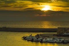 Là où les bateaux dorment Photo libre de droits