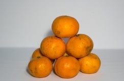 Là oranges dessus plus hautes Image libre de droits