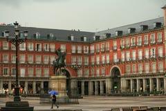 Lá também chuvas na Espanha fotografia de stock